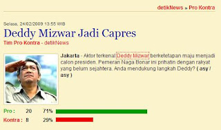 [calon] Presiden 2009 : Deddy Mizwar