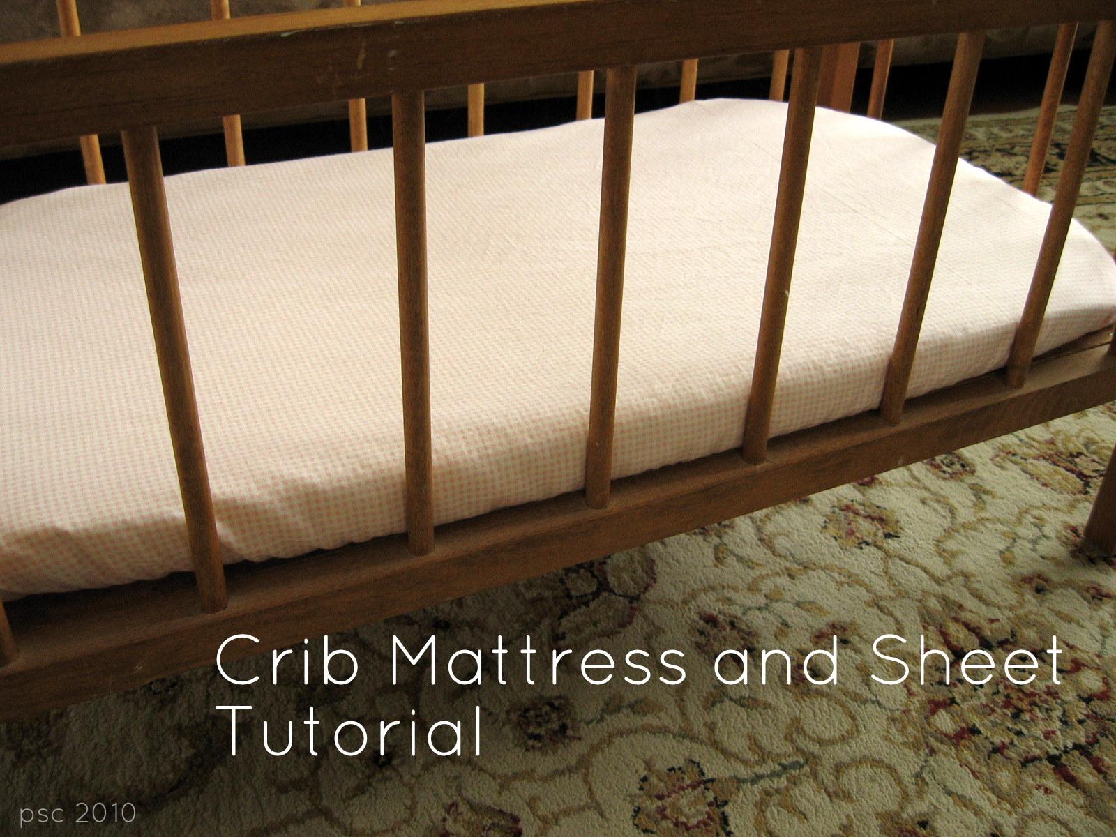 Baby doll crib mattress - Doll Crib Mattress And Sheet Tutorial