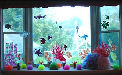 para dar tono a la luz de la fiesta y puedes ponerle figuras marinas