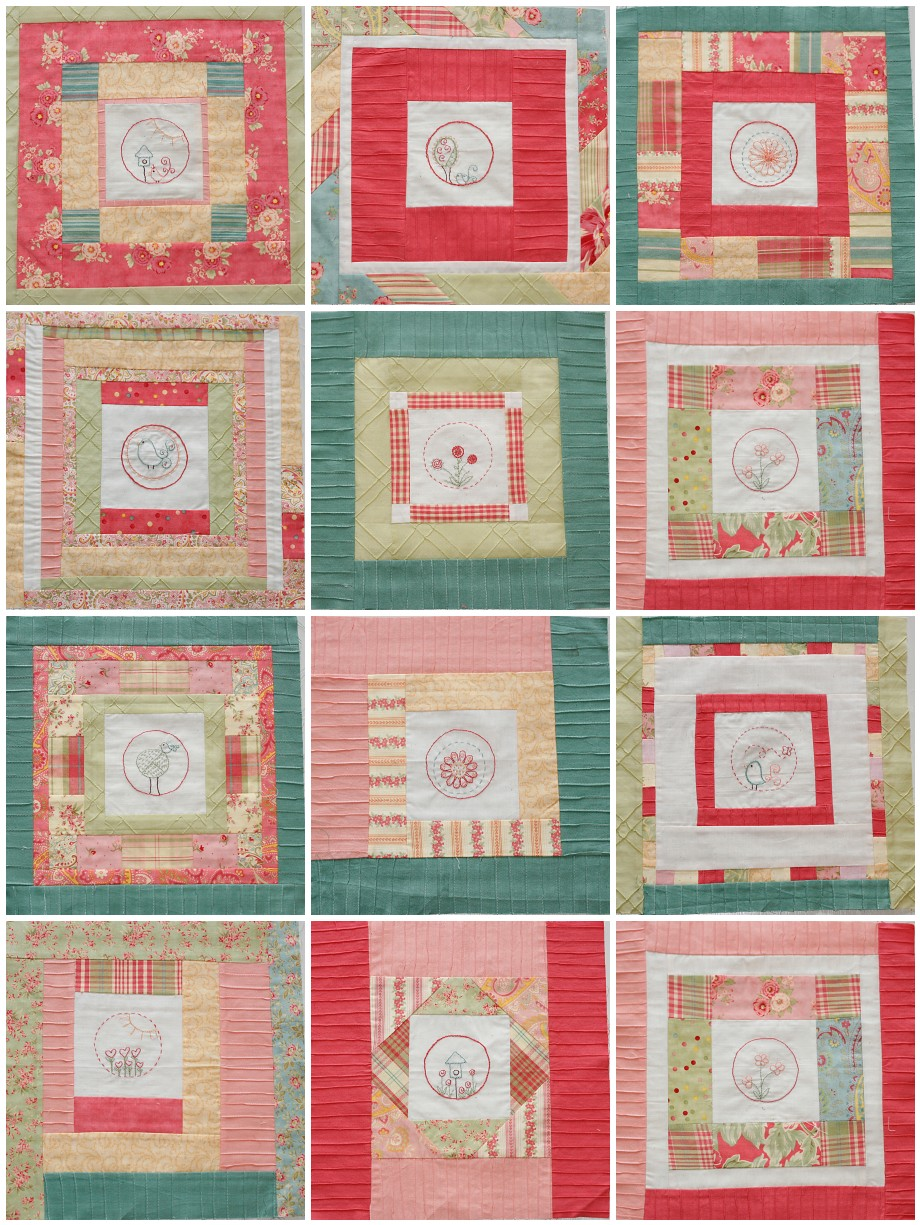 Embroidery Blocks Coriander Quilts