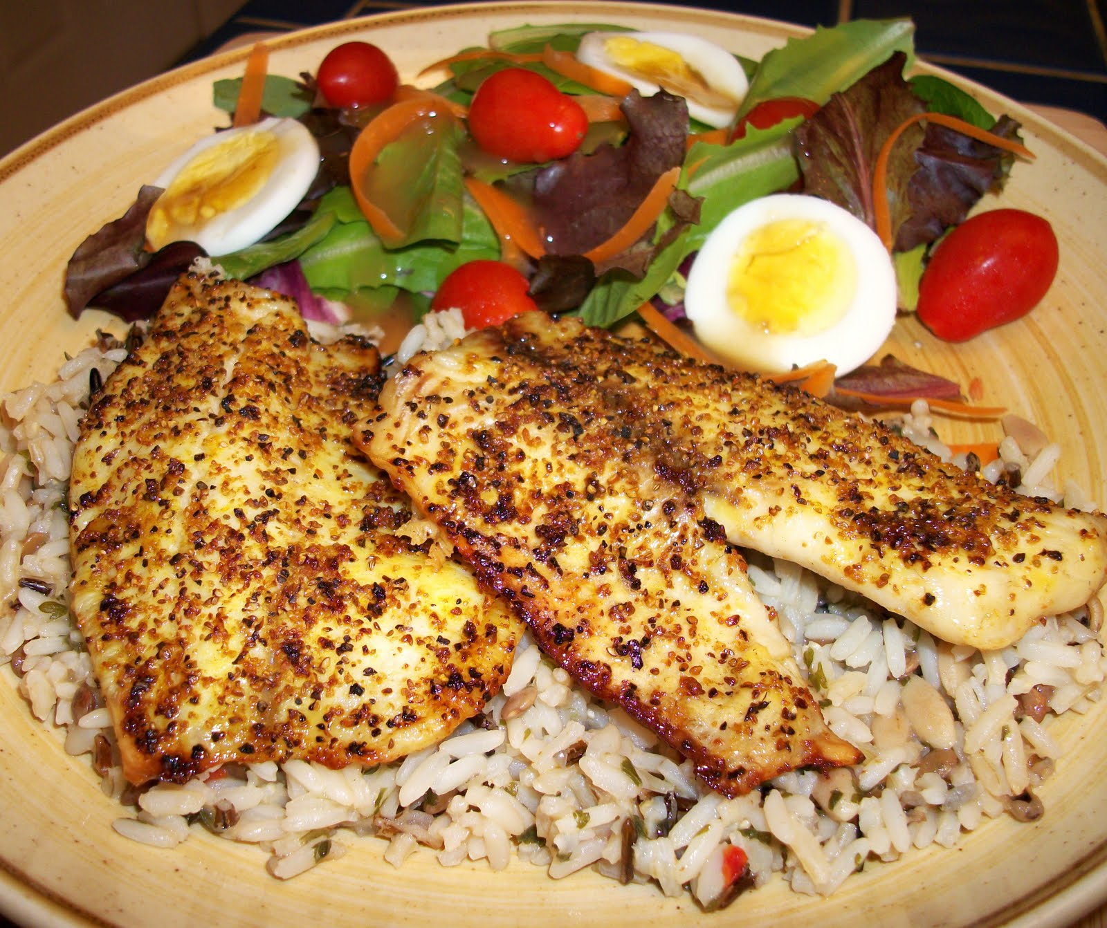 What 39 s cooking with melissa baked lemon pepper tilapia for Baked fish and rice