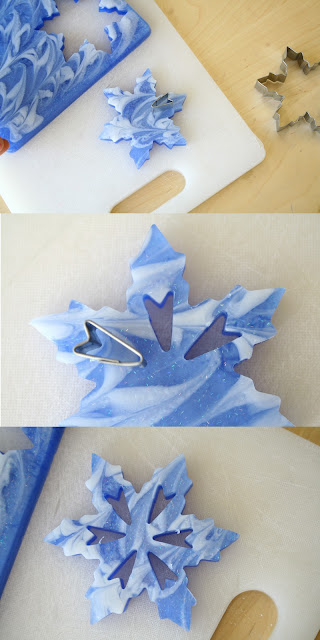 Learn how to create gorgeous snowflake soap!