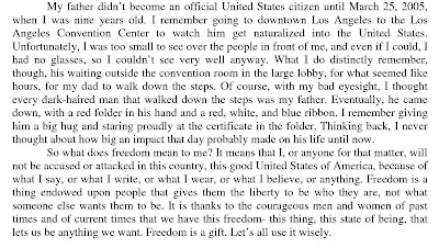 Essay on what freedom of speech means to me