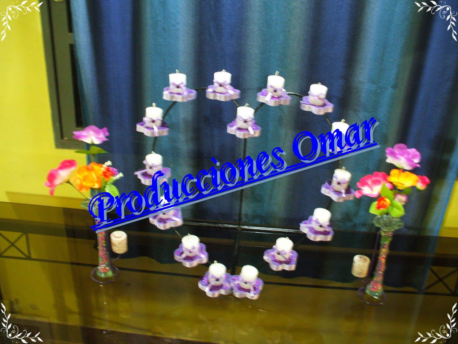 Todohierroomar centro de mesa en hierro producciones omar for Mesa 5 producciones