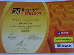 Uno de los 20 blogs peruanos 2009