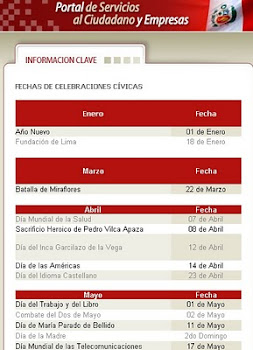 Fechas cvicas de 2011