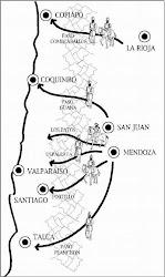 Mapa del Cruce de los Andes