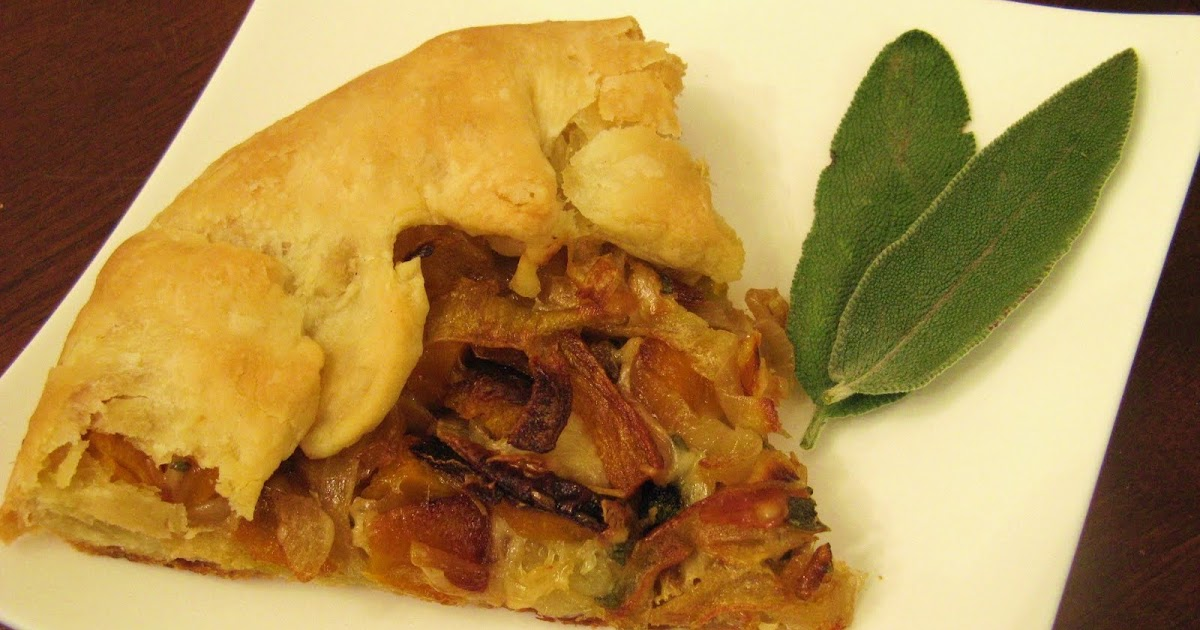 The Well-Fed Newlyweds: Butternut Squash and Caramelized Onion Galette
