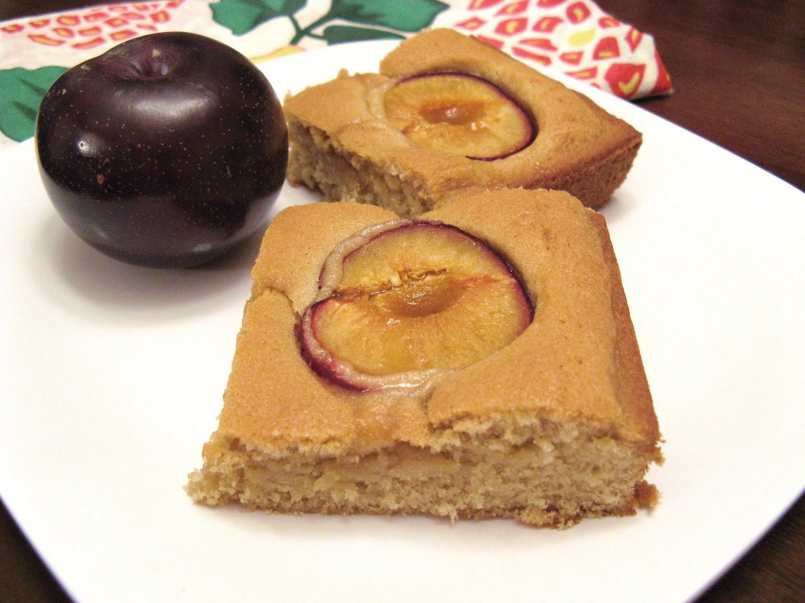 The Well-Fed Newlyweds: Dimply Plum Cake