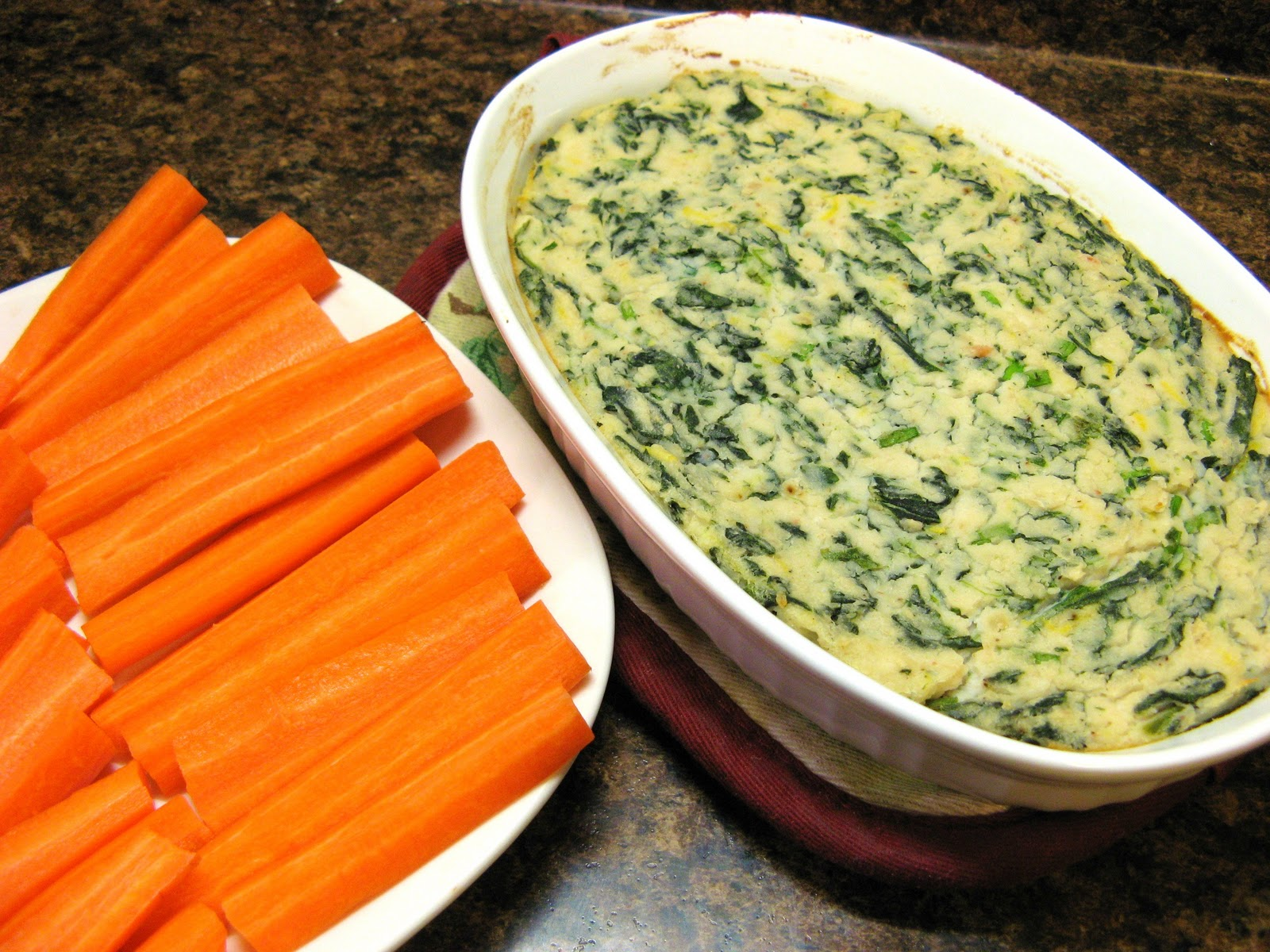 The Well-Fed Newlyweds: Warm Spinach and White Bean Dip