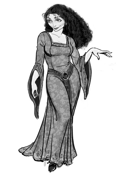 tangled mother gothel concept art