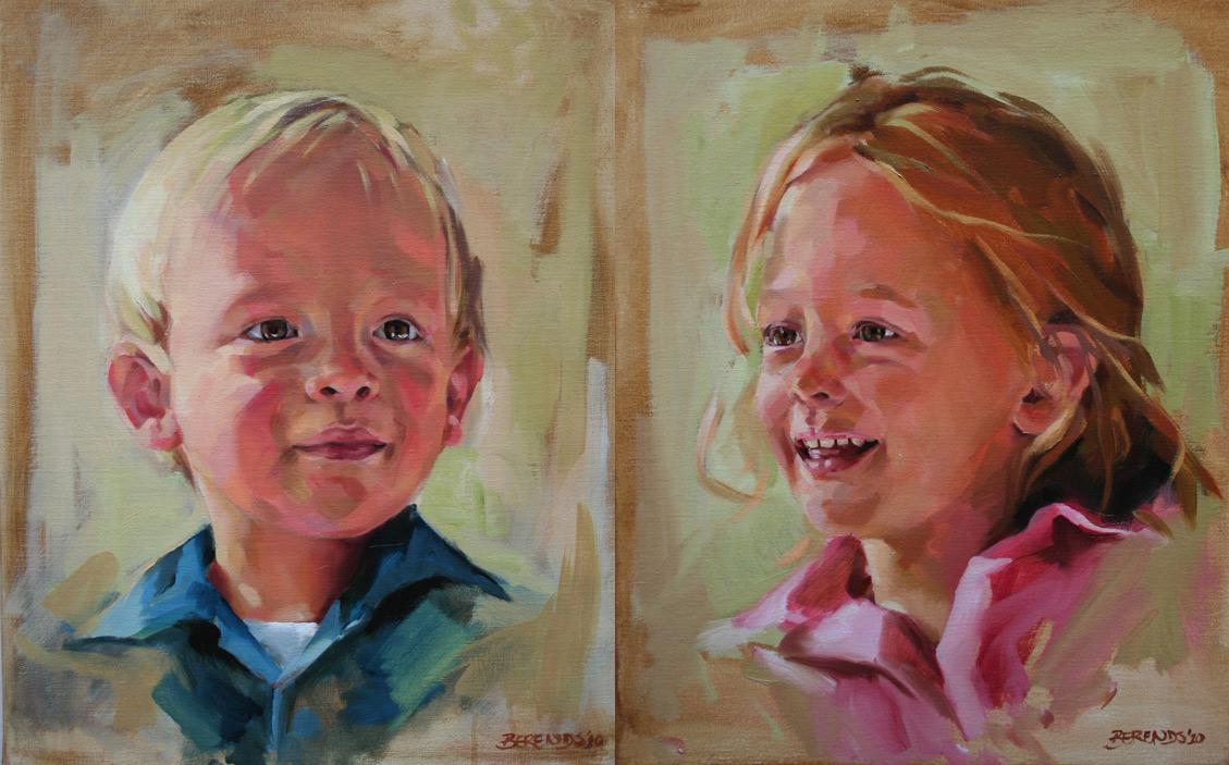 Beeldend kunstenaar bianca berends - Schilderen kind jongen ...