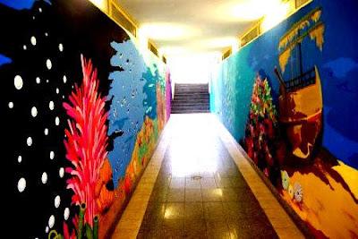 murales nel sottopassaggio