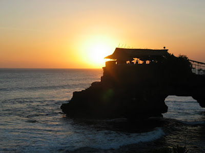 Tanah Lot of Bali, Indonesia at Sunset
