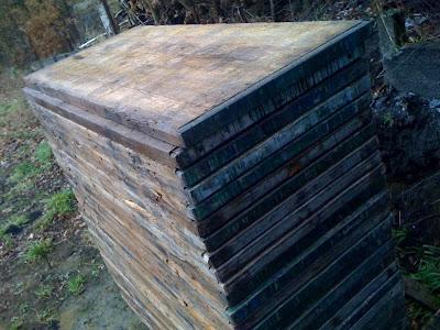 Terrasse panneaux bois