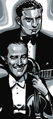 Eddie Lang e Joe Venuti, ilustração de Johanna Goodman