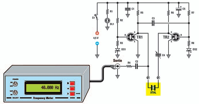 Un testeur de quartz jusqu 1 mhz schema electronique net - Comment tester un circuit electronique ...