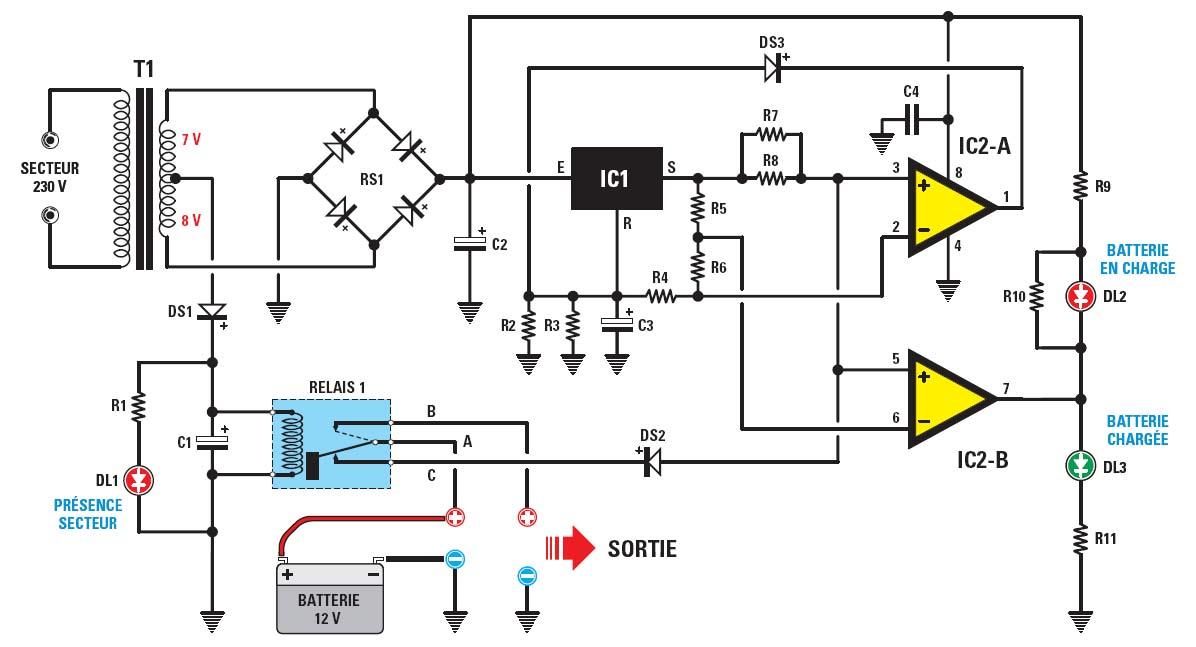 Une centrale de secours pour panne de secteur schema electronique net - Qui appeler en cas de coupure de courant ...