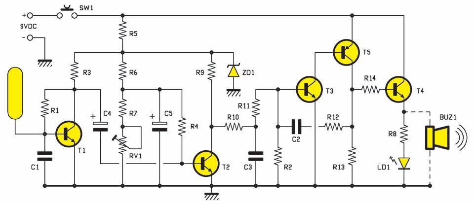 Un d tecteur de c bles secteur schema electronique net - Fabriquer une guirlande electrique ...