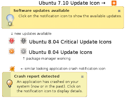 Ubuntu 8.04 Update Icons
