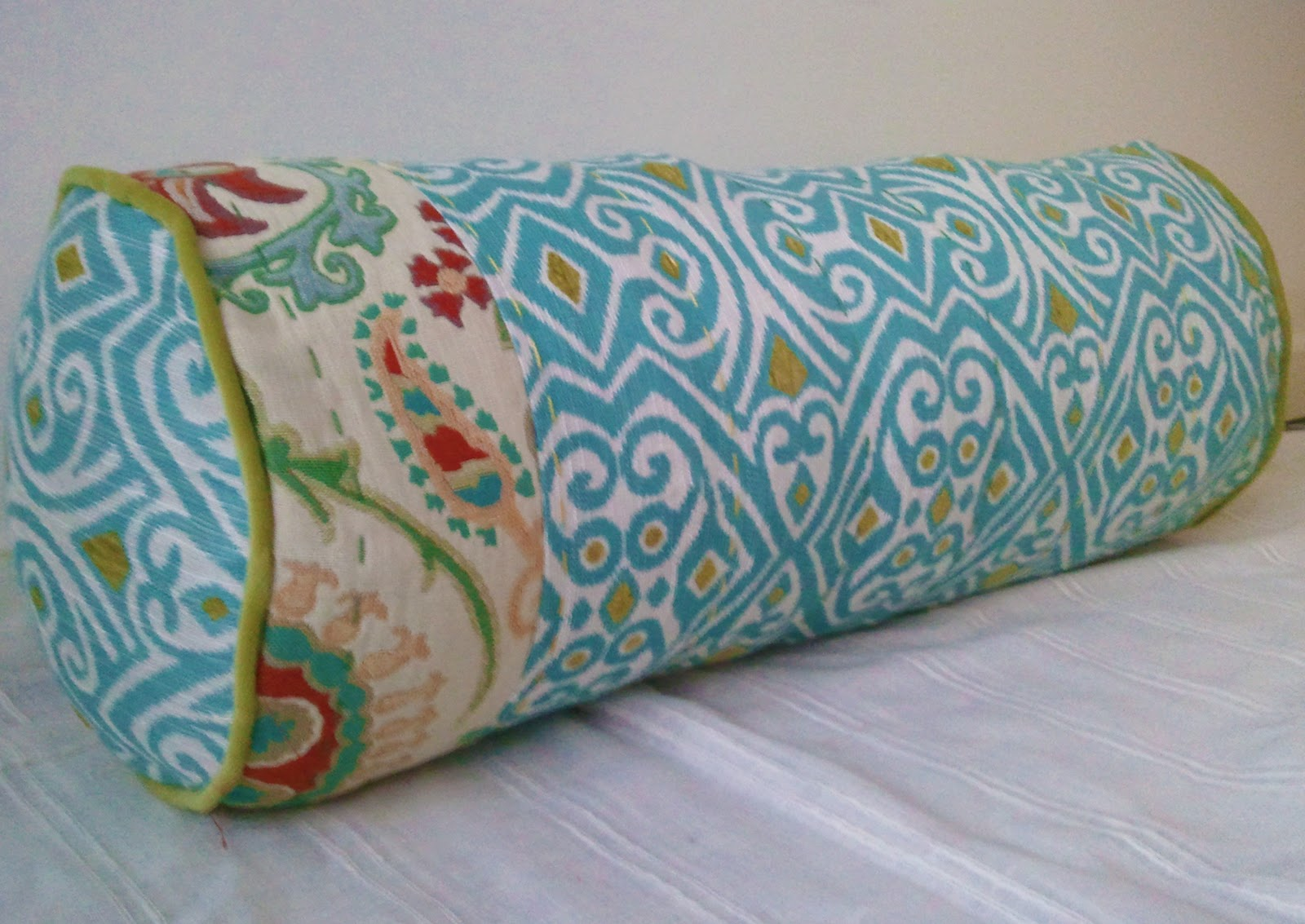 Sew homegrown diy anthropologie inspired bolster pillow Sew bolster pillow cover