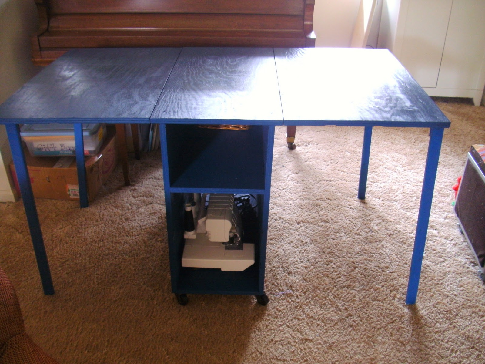 Pdf diy sewing table plans ana white download rustic for Diy table