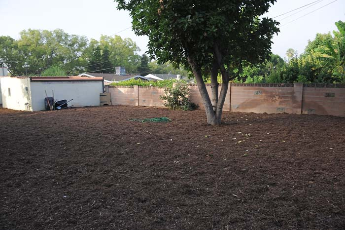 Mulch Backyard Dogs : 30 Square Yards of Mulch