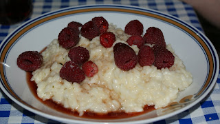 Im Sommer: Himbeer-Thymian-Risotto
