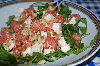 Menü 5: Salat mit Melone und Feta