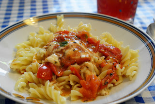 Fusili mit Soße Margherita