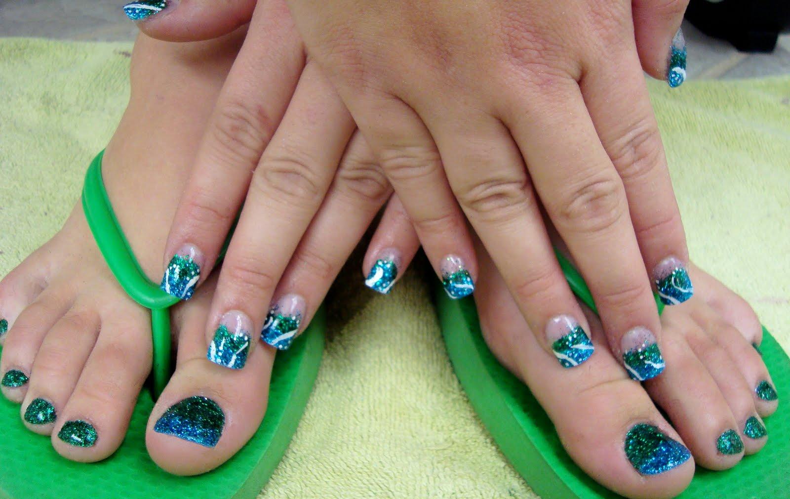 Glitter Toes Colors Art Glitter Toes 35