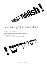 La culture yiddish aujourd&#39;hui - Yiddish Culture Today (includes poetry by Zackary Sholem Berger)