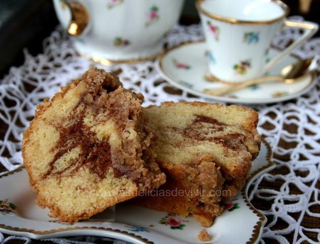 Receta coffee cake de canela