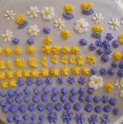 Como hacer flores en glace
