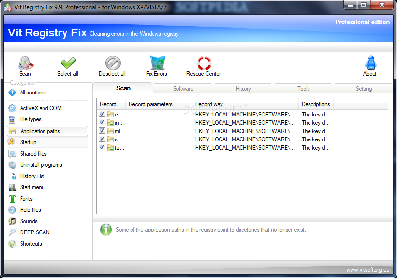 Vit Registry Fix Pro full screenshot