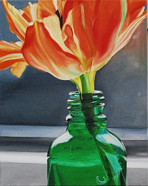 tulip in a bottle