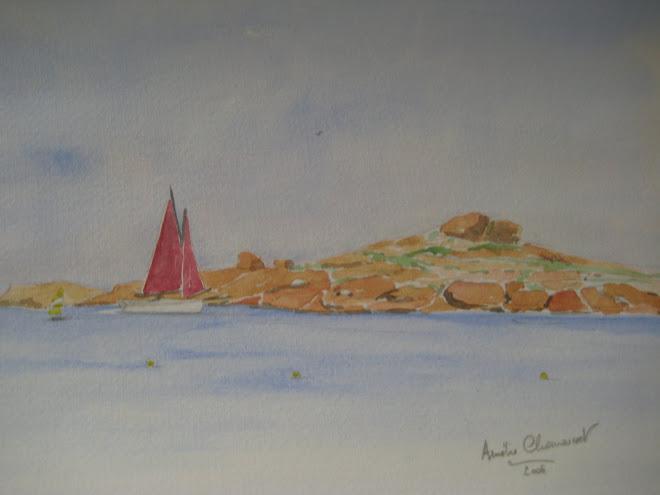 tregastel voile rouge à la grande plage