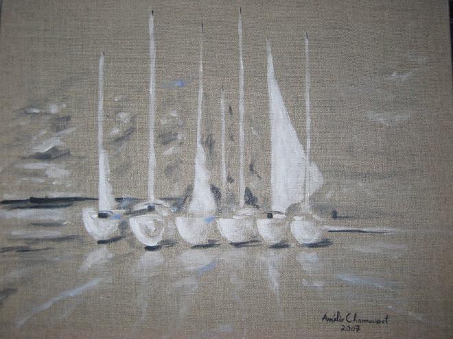 6 bateaux à quai