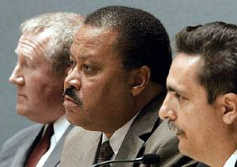from left, William D. Green, Ronald H. Hodge and Jose L. Lopez Sr.