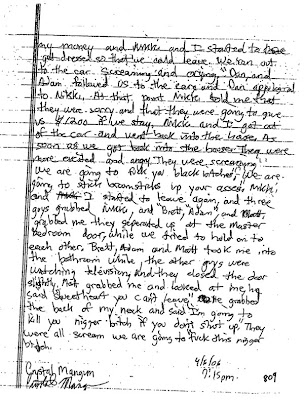 Crystal Gail Mangum - April 6, 2006, written statement, page 3