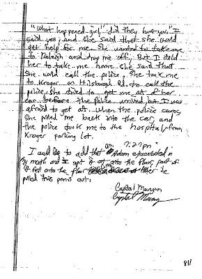 Crystal Gail Mangum - April 6, 2006, written statement, page 5