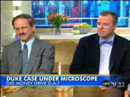 Stuart Taylor (left) and KC Johnson (rt) on Good Morning America