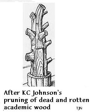 After KC Johnson's pruning of dead and rotten academic wood
