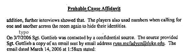 Probable Cause Affad