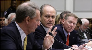 Rick Wagoner of G.M., Robert Nardelli of Chrysler and Alan Mulally of Ford seek bailout from Congress