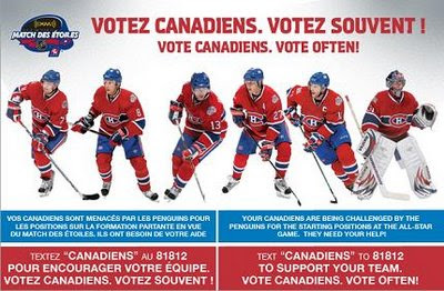 Vote Often. Vote Canadiens