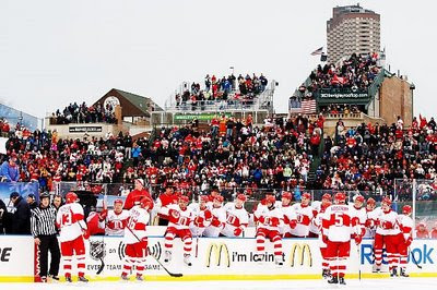 Detroit wins the 2009 Winter Classic 6-4 and improves to 25-7-5