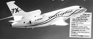 CitiBank buys Dassault_Falcon 7X