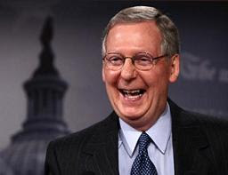Senate Minority Leader Mitch McConnell a happy camper?