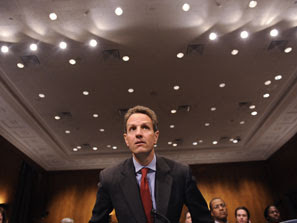 Treasury Secretary Tim Geithner testifies before the Senate Banking Committee.